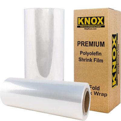 12 525ft 75 Gauge Centerfold Polyolefin Pof Heat Shrink Wrap Film Free Shipping