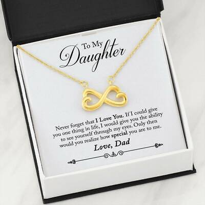 Gift To My Daughter From Dad There For You Special Girl + Infinity <3 Necklace ()