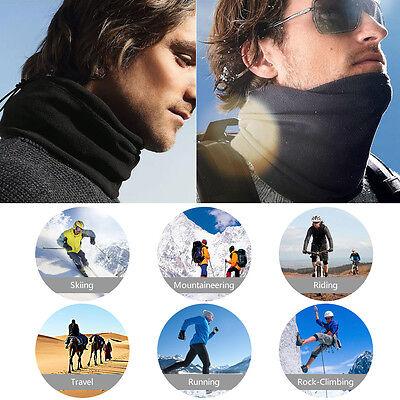 Reversible Neck Warmer (Fur Fleece Neck Warmer Reversible Gaiter Tube Ear Warmer Headband Ski Face Mask )