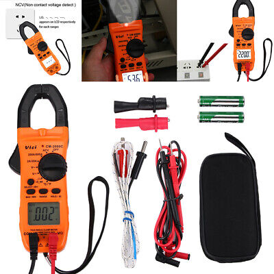 1x Clamp Meter Tester Acdc Multimeter Test Ncv Resistance Temperature Us Stock