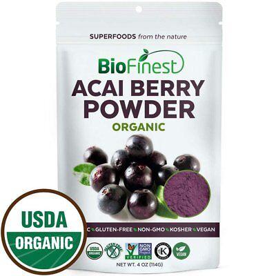 100% Pure Acai Juice - Biofinest Acai Berry Juice Powder - 100% Pure Freeze-Dried Antioxidant...