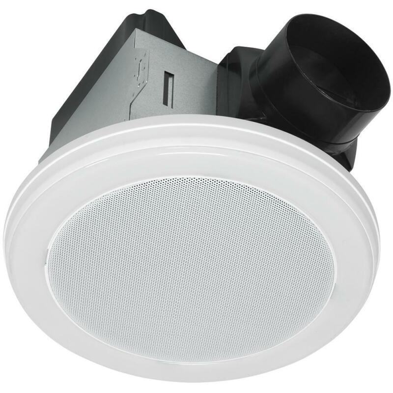 Home Netwerks 80 CFM Ceiling Mount Bluetooth Stereo Speaker Bathroom Exhaust