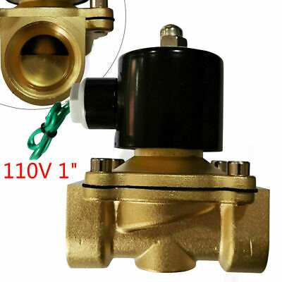 1 Npt Electric Solenoid Valve 2-way Switch For Water Air Gas Fuel 110115120v