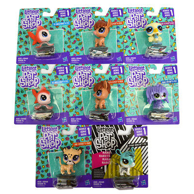 Littlest Pet Shop Lot of 8 Rhino/Jaguar/Angelfish/Ostrich LPS Toys Series 1 NEW