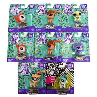 Littlest Pet Shop Lot of 8 Rhino/Jaguar/Angelfish/Ostrich LPS Toys Series 1 NEW