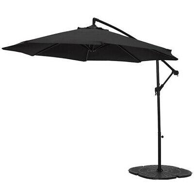 Home 2.5m Overhanging Garden Parasol - Black 2044
