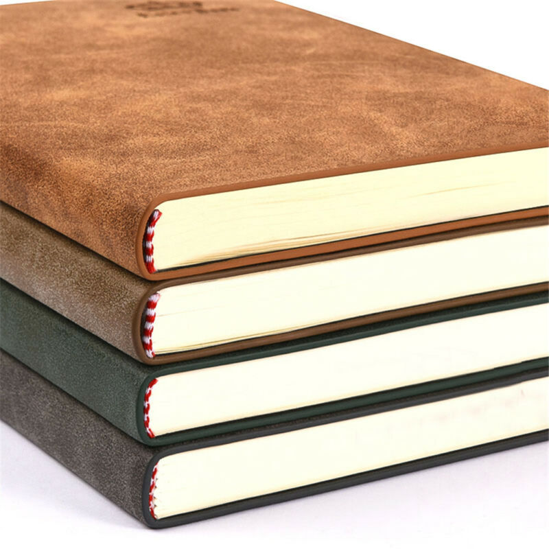 A5 Business PU Leather Cover Journal Notebook Lined Paper Diary Planner 280Pages