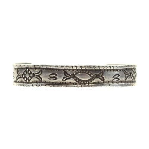 Navajo Ingot Silver Bracelet, c. 1900s, Size 5.75