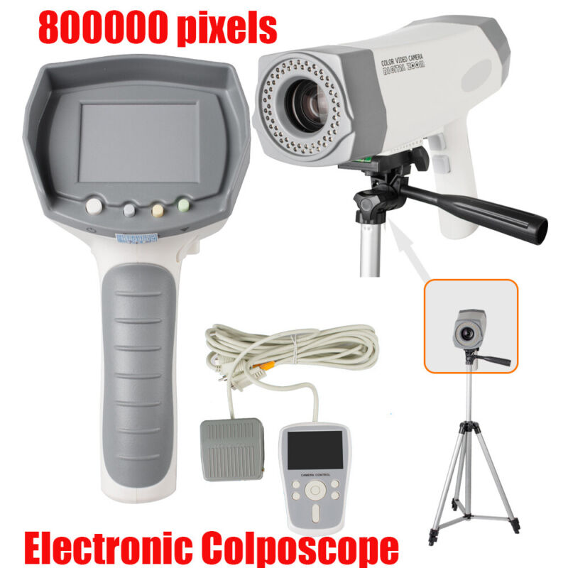 Portable Electronic Colposcope Video Camera 800K pixel LED Handle + Tripod