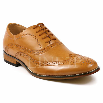 Perforated Wing Tip - Men's Wing Tip Perforated Lace Up Fashion Oxford Dress Shoes