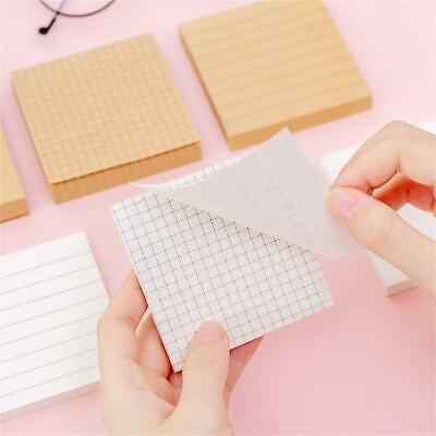 Simple Line Grid Sticky Notes Adhesive Memo Pad Planner Flag Index Stationery