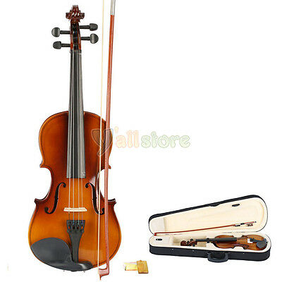 3/4 size Natural Acoustic Violin + Case+ Bow + Rosin Brand New on Rummage