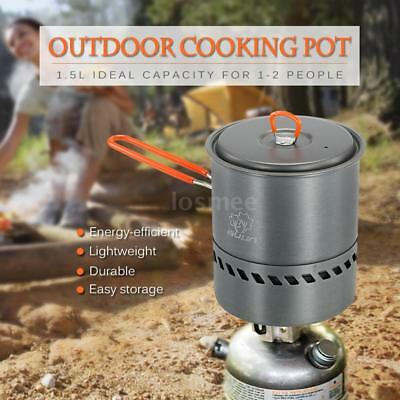 1.5L Outdoor Portable Heat Collecting Exchanger Camping Pot