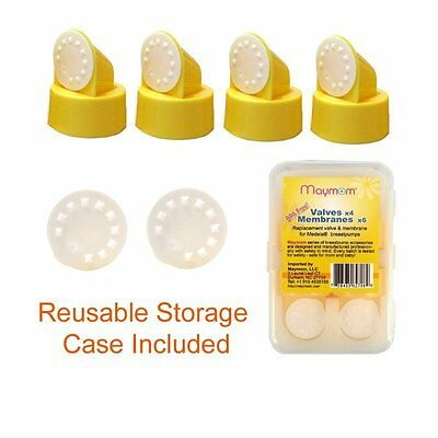 Replacement Valve and Membrane for Medela Breastpumps:4x Valves/6x Membranes