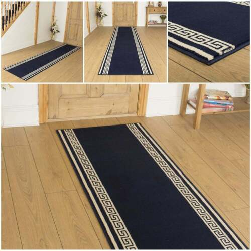 Key Dark Blue Hallway Carpet Runner Rug Mat For Hall