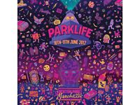 2 x weekend (Saturday and sunday) parklife tickets