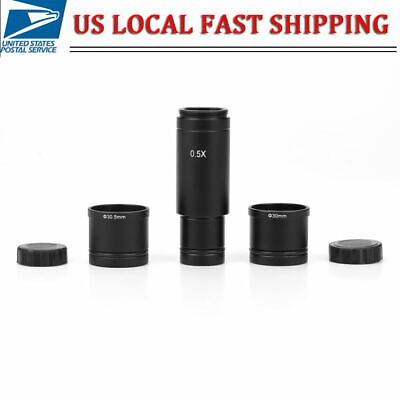0.5x C Mount Microscope Adapter Ccd Camera Eyepiece Lens With 30 30.5mm Adapter