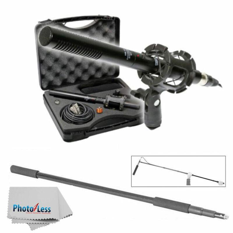 Vidpro XM-88 Shotgun Pro Video Microphone + Lightweight Handheld Boom Mic Pole