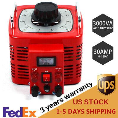 Variac Ac -transformer Variable Ac Voltage Regulator Metered 30map 3000va 0-130v