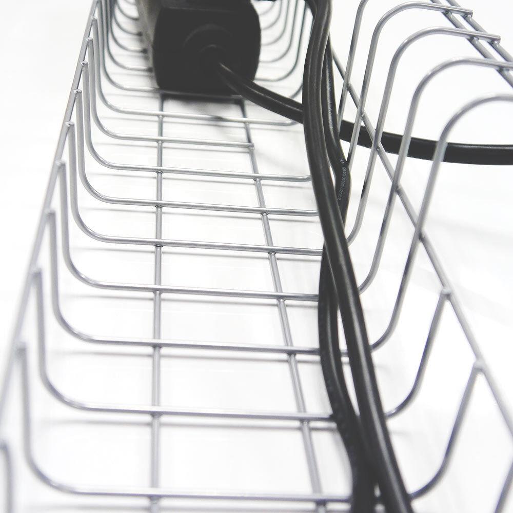 Kabelkorb 490 mm für Schreibtische | Gitter Kabelwanne Kabelkanal ...