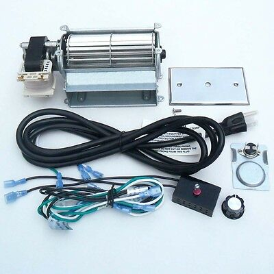 Gas Stove Blower - Universal Upgraded Blower Fan Kit for Wood / Gas Burning Stove or Fireplace