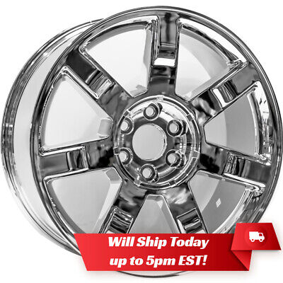 """New 22"""" Replacement Chrome Alloy Wheel Rim for 2007-2014 Cadillac Escalade"""