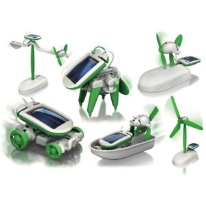 6 in 1 solar robot kit new (green)