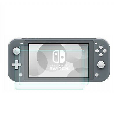 2X Pack Premium Clear Tempered Glass Screen Protector for Nintendo Switch Lite