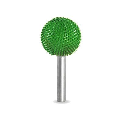 "SABURR TOOTH 1"" Sphere Burr Bit Coarse (Green) - 1/4"" Shank - 14S1-70"