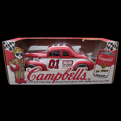 Campbells Campbell Soup Company 1940 Ford Coupe Coin Bank From Ertl 1998