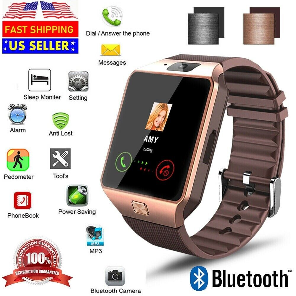 New Bluetooth Smart Watch & Phone with Camera For iPhone Samsung LG HTC Google Cell Phones & Accessories