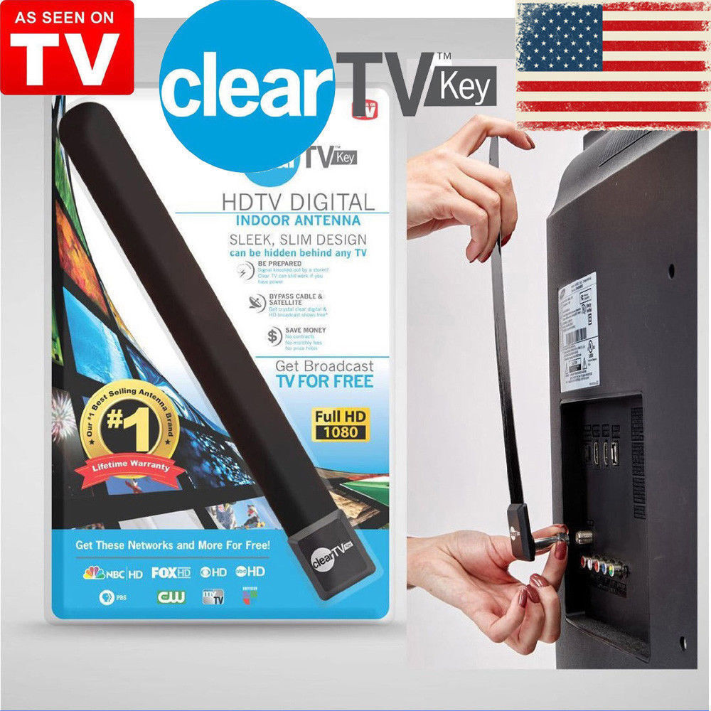 New As Seen on TV Clear TV Key FREE HDTV TV Digital Indoor A