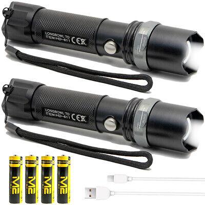 Taschenlampe LED Polizei starke CREE taktische Swat Military Torch 2 Stück1000m Led-taschenlampe