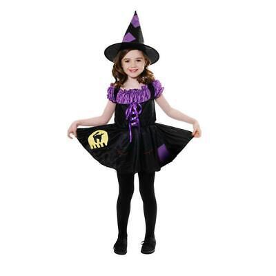 Katze Hexe Kostüm Mädchen Halloween Kostüm 10-12 Jahre - Hexen Kostüm Kinder Katze