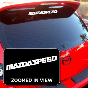 Mazdaspeed Sticker Decal Mazda 3 6 P Vinyl Decal Sticker Window Car/ipad laptop