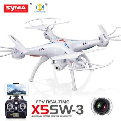 Syma X5SW-V3 Wifi FPV Explorers 2.4Ghz 4CH RC 720P Quadcopter Drone & Batteries