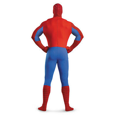 Adult Marvel Comics Superhero Spider-man Deluxe Spidey Morph Bodysuit Costume - Superhero Bodysuit