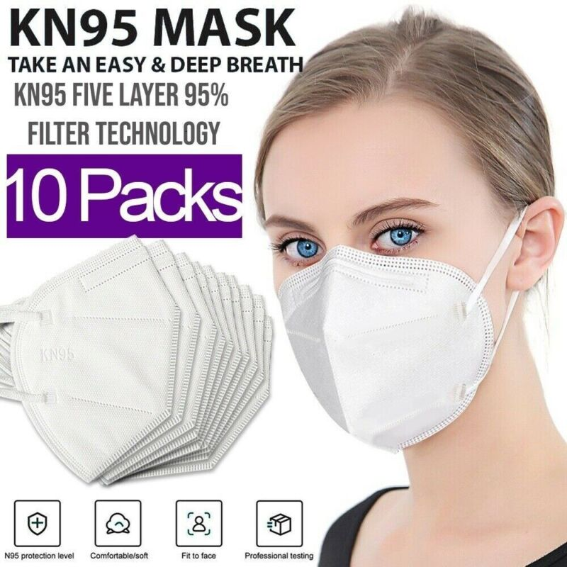 K 95 Protective 5 Layers Face Mask [10 PACK]