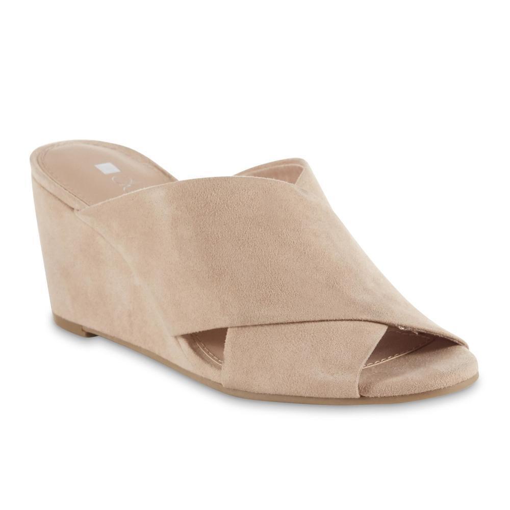 Dolcetta Women's Calla Blush Pink Wedge Heel Sandal Shoes Si
