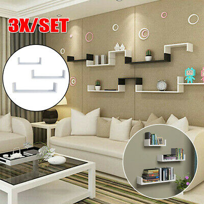 3PCS Wall Floating Shelves Bookshelf Display For Bathroom Home Bedroom Office ()