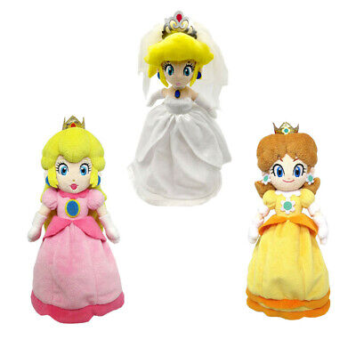 Super Mario Bros Princess Daisy (Super Mario Bros Odyssey Wedding Princess Peach and Daisy Plush Doll Figure)