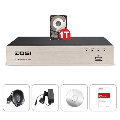 ZOSI CCTV 8CH 720P AHD TVI DVR Digital Video Recorder HDMI Überwachung 1TB HDD