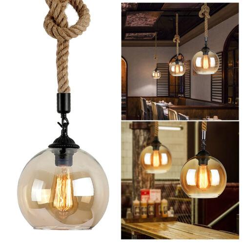 Modern Vintage Industrial Retro Loft Glass Ceiling Lamp Shad