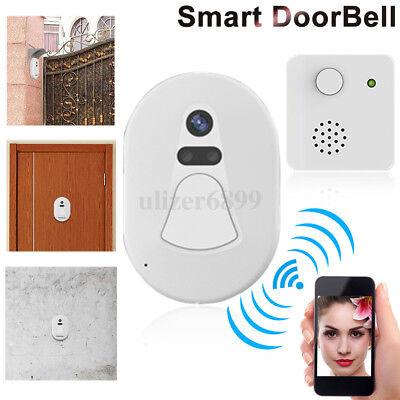 Smart Wireless WiFi Video Camera Door Phone Doorbell Intercom Monitor Security A