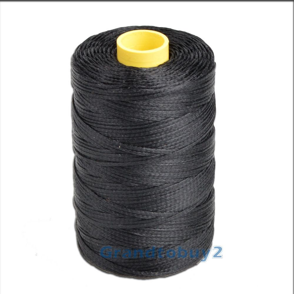 100m Spool 1mm Flat Waxed Thread Cord Leather Sewing Hand Stitching Thread #17 Black