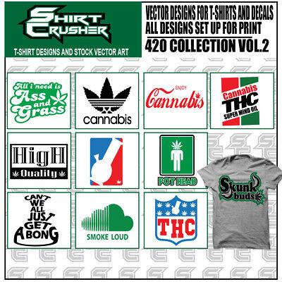 420 Vol2 -vector Clipart- Screen Print Vinyl Cutter Eps Tshirt Designs Cd