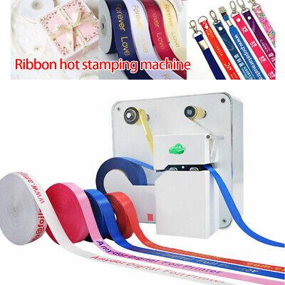 Desktop Ribbon Belt Hot Foil Stamping Machine Diy Packaging Gift Logo Printing