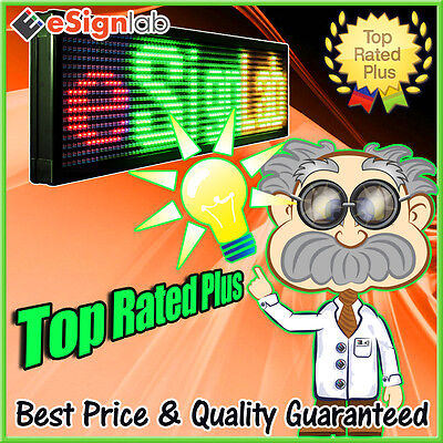 Led Sign Rgy Programmable Scrolling Outdoor Message Display 40 X 91