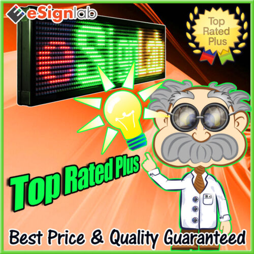 "Led Sign Rgy Programmable Scrolling Outdoor Message Display 40"" X 91"""