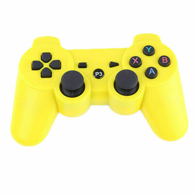 Wireless Remote PS3 Controller Gamepad for use with PlayStation3 Yellow for sale  Shipping to Nigeria
